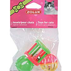 Rotaļlietu k-ts kaķiem Zolux 3 formas 4cm