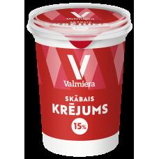 Krējums skābs 15% 0.45kg Valmiera