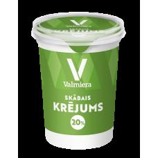 Krējums skābs 20% 0.45kg Valmiera