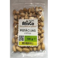 Rieksti pistācijas grauz.sāl.0.1kg Alis Co