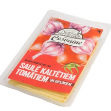 Siers ar kalt.tomāt.un ķiplokiem šķ.0.15kg Cesvaines
