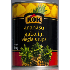 Kons.Ananāsu gab.sīrupā 0.565kg  Kok