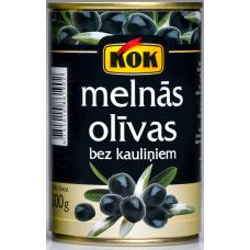 Kons.Olīvas melnās b/k 0.3kg Kok