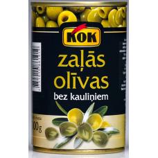 Kons.Olīvas zaļās b/k 0.3kg Kok