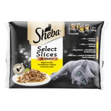 Kaķu b. Sheba mājputnu gaļas izlase 4*85g