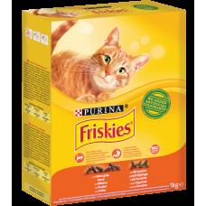 Kaķu b.Friskies ar vistas gaļu 1kg.