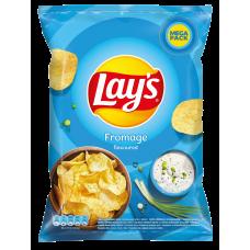 *Čipsi Lays ar krējuma un lociņu garšu 215g