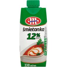 Krējums saldais 12% 330ml Mlekovita UHT