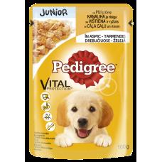 Suņu b.Pedigree kucēniem ar vistas gaļu mais.0.1kg