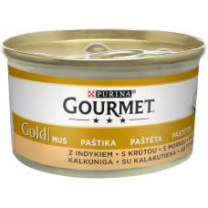 Kaķu b.Gourmet Gold pastēte tītars 85g