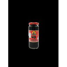 Kons.Olīvas melnas b/k Figaro stikls 0.34kg